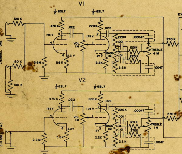 9-65 B15NF preamp schematic